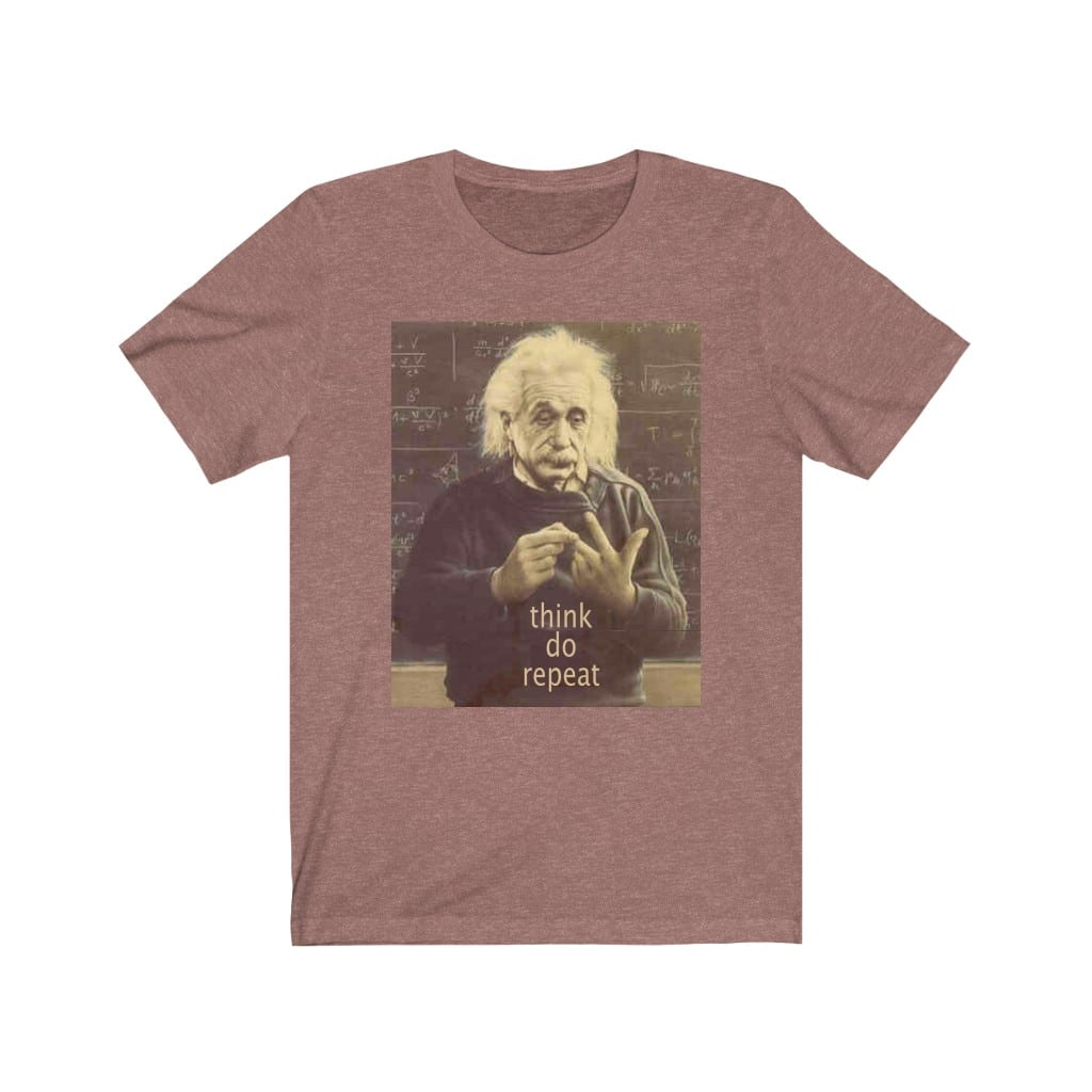 Einstein Counting on fingers.